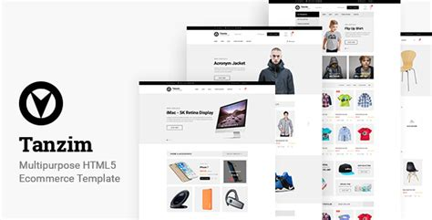 Tanzim Ecommerce Html5 Template By Nilartstudio Themeforest Html5 Ecommerce Template