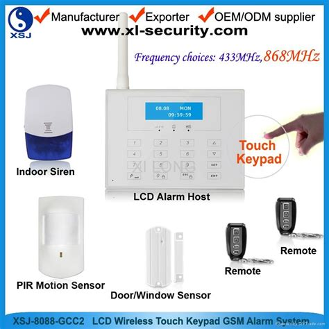 wireless gsm home alarm system with innovative design