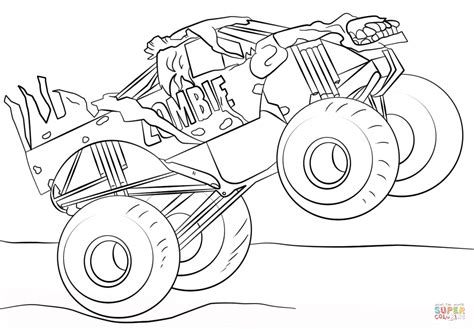 monster jam coloring pages to print cooloring com