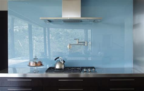 Kitchen Mirror Backsplash try the trend solid glass backsplashes porch advice