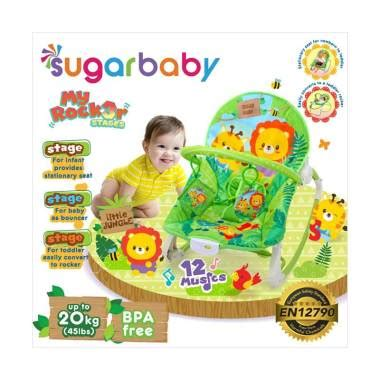Bouncer Bayi Sugar Baby My Rocker 3 Stages Tea Time jual sugar baby my rocker 3 stages jungle baby