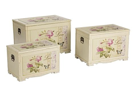 mobili decorati con fiori set 3 bauli decorati baule con sta bauli 3 dimensioni