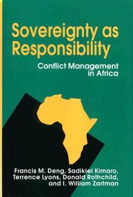 sovereignty books sovereignty as responsibility conflict management in
