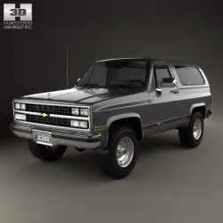 1989 Chevrolet K5 Blazer Chevrolet Blazer K5 1989 3d Model Humster3d