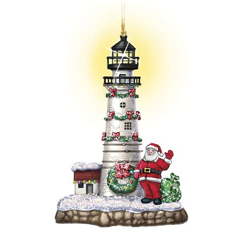 shining lighthouse christmas ornaments the danbury mint