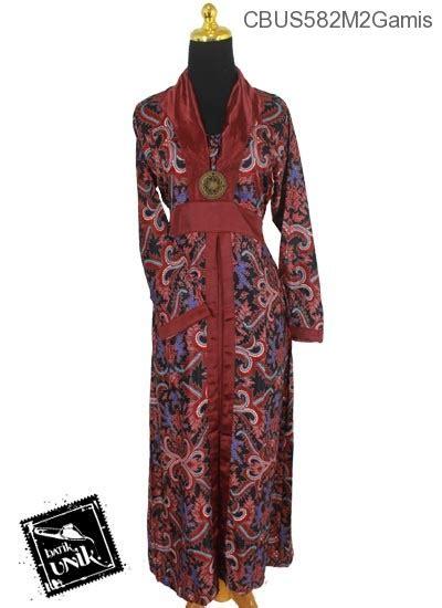 sarimbit gamis semi motif jokowi gamis batik murah batikunik