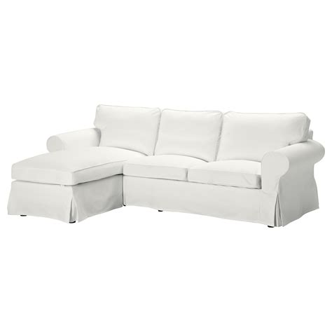 white couch ikea ektorp two seat sofa and chaise longue blekinge white ikea