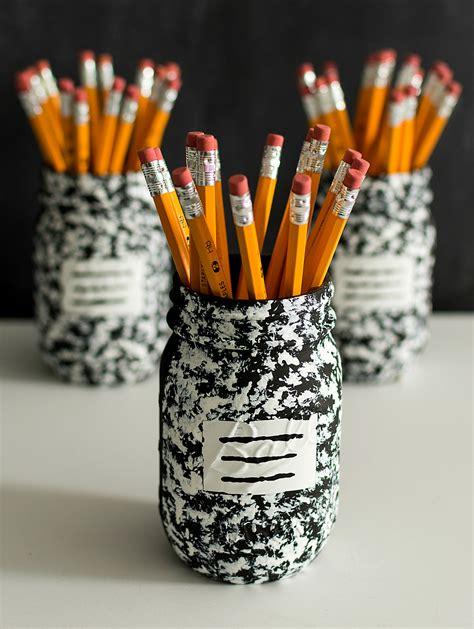 pencil holder craft ideas for desk organizer idea composition book jar