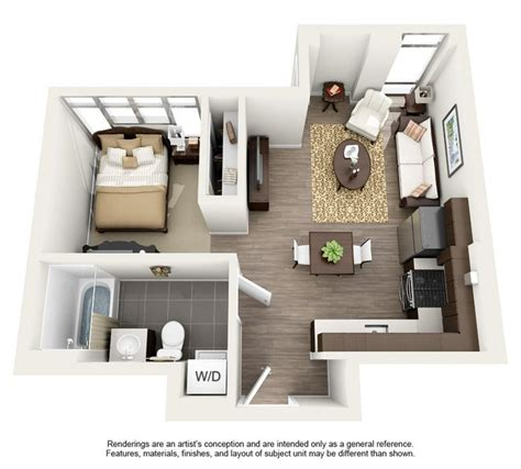 studio apartment 3d floor plans 25 best ideas about studio apartment floor plans on