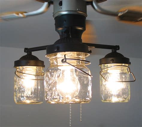 ceiling fan with mason jar lights vintage canning jar ceiling fan light kit 149 00 via