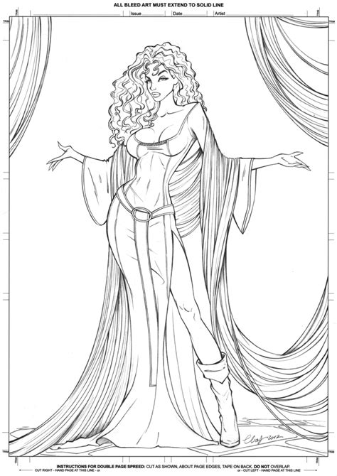 coloring pages classic art mother gothel lineart by elias chatzoudis deviantart
