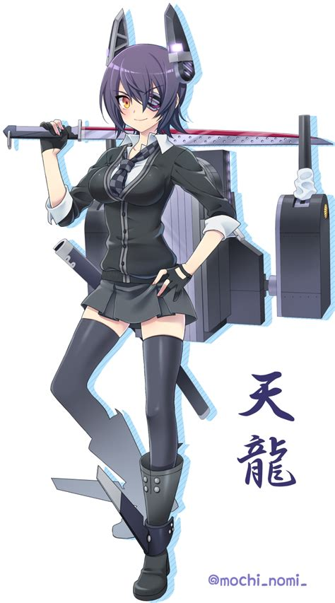 Aretta Set Black anime picture kantai collection tenryuu light cruiser