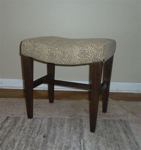 95 rubbed bronze vanity stool morrow harvard