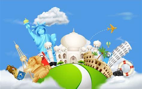 World Traveler 10 creative world travel background vector graphics
