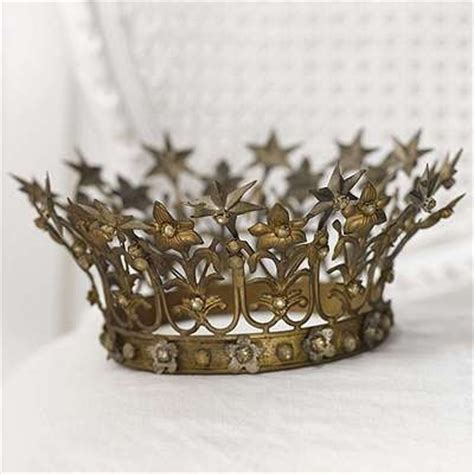 gold shabby star crown accessory s pinterest