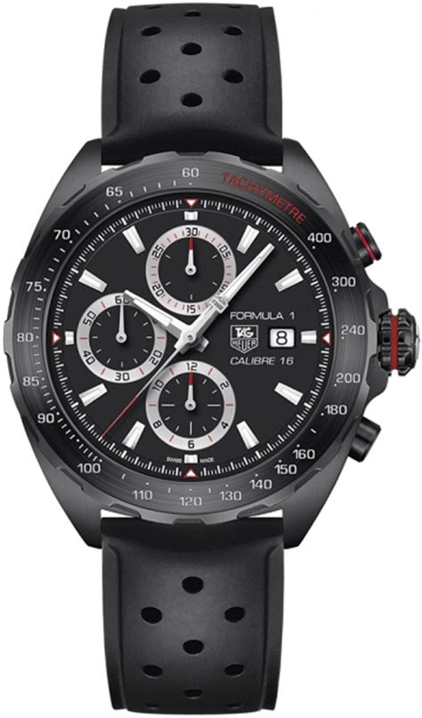 Tag Heuer F1 Calibre 16 Chrono Brown Silver White caz2011 ft8024 tag heuer formula one mens automatic chronograph