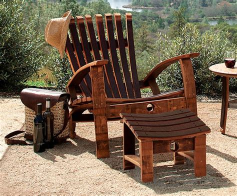 Wine Adirondack Chair by Wine Barrel Stave Adirondack Furniture Oui S Il Vous