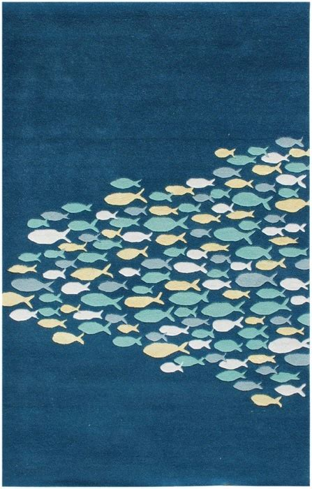 Fish Runner Rug Beautiful Quot School Of Fish Quot And Themed Rug Coastal Pinterest Fish And