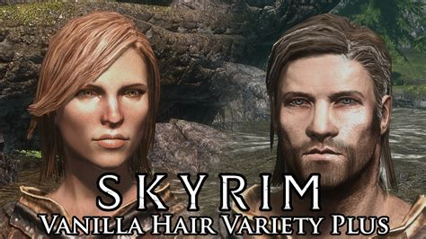 skyrim male hair mod skyrim mod spotlight vanilla hair variety plus youtube