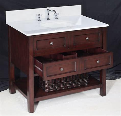 chic new yorker bathroom vanity