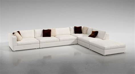 white l shaped sectional sofa 3d white l shaped sofa cgtrader