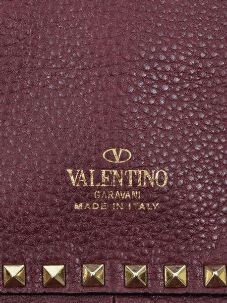 Totebag Leopard Brown Atau Purple valentino rockstud reversible leather tote bag in purple brown lyst