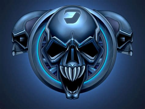 imagenes de calaveras azules skull fondos de pantalla gratis