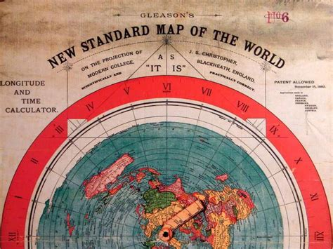 standard map flat earth gleason s new standard map of world 1892