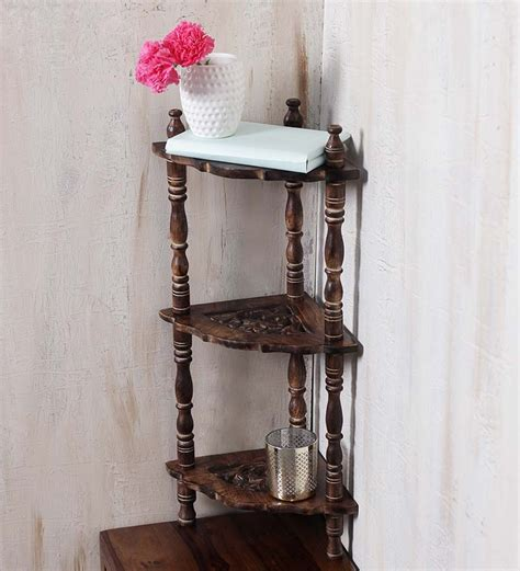 onlineshoppee wooden corner rack side table by