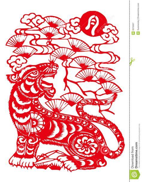 new year zodiac tiger paper cut zodiac monkey wallpaper