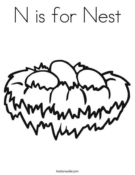 Coloring Page Nest by Nest Coloring Page Coloring Home