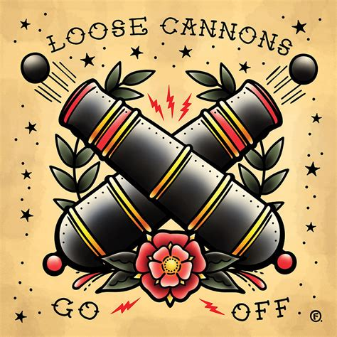 loose cannon tattoo cannons go drawing by o foley