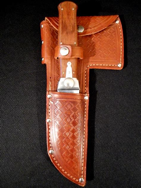 kabar hatchet cond antique kabar exchange blade hatchet knife