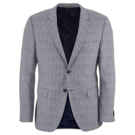 grey blazer hugo boss the smith 12 grey cotton and linen blazer hugo boss from charles hobson uk