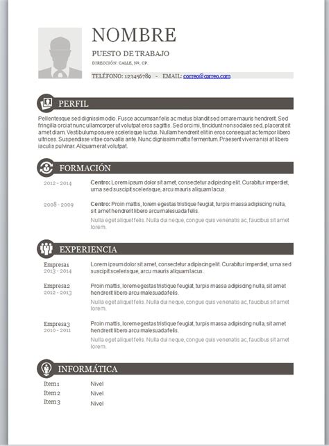 Plantilla De Curriculum Pdf Descargar Plantillas De Curriculum Vitae New Style For 2016 2017