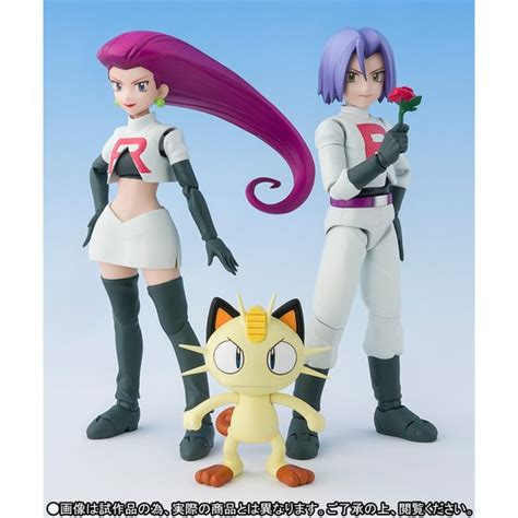 Shf Satoshi Ash Pikachu shf ash pikachu and team rocket jtoys