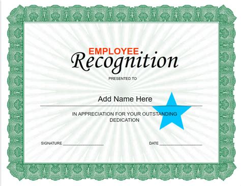certificates for employees templates employee certificates use iclicknprint certificate templates
