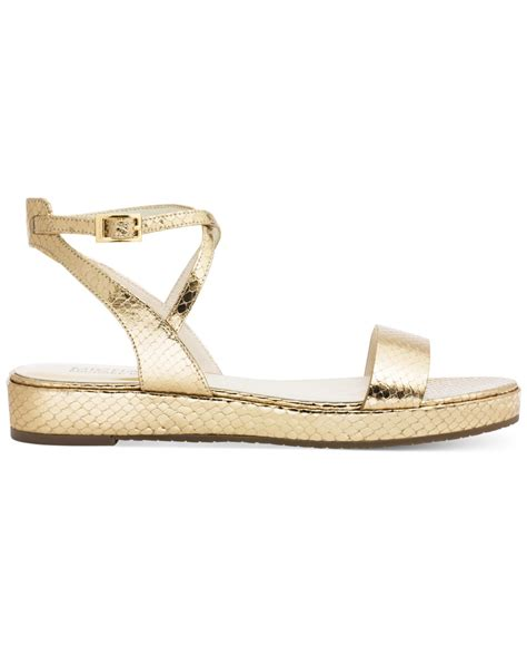 metallic flatform sandals michael kors michael flatform sandals in metallic