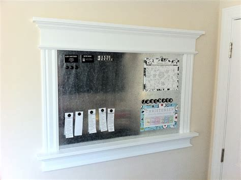 Magnet Board remodelaholic build a beautiful magnetic board step by
