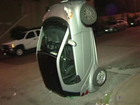 tipping smart cars another reason not to get a tiny smart car orange power
