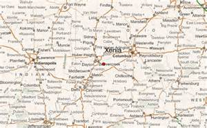 Xenia Ohio Map by Xenia Location Guide