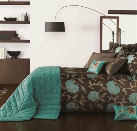 teal brown and gold bedroom bedrooms baths