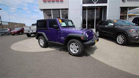 jeep purple 2017 2017 jeep wrangler sport purple hl605173 mt