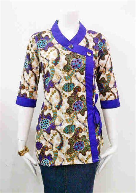 desain kemeja wanita batik 10 model baju batik resmi wanita terbaru desain elegan 2016