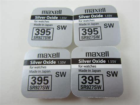 Diskon Button Cell Maxell 395 Sr927sw maxell 4x sr927sw 395 1 55v silver oxide button cell batteries msgamesnnsupplies