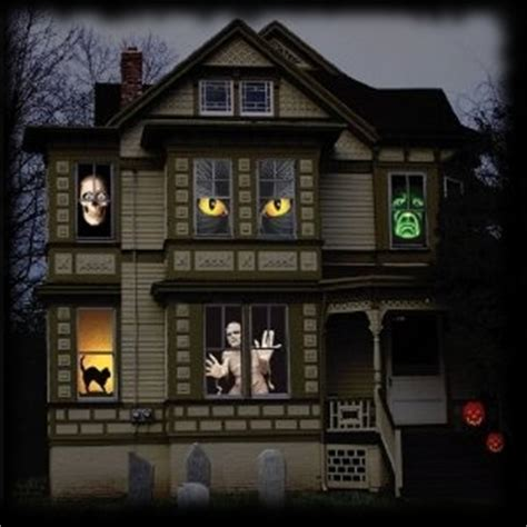 haunted house window party ideas for halloween set in the 1970s