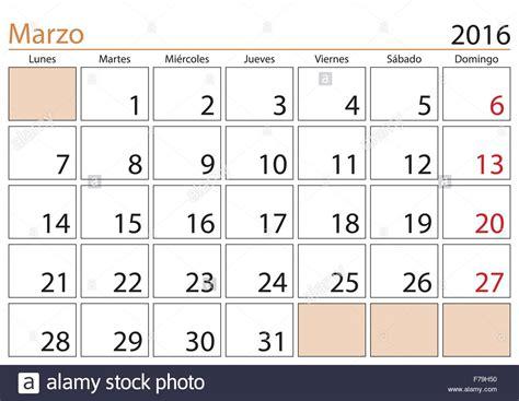 Calendario Marzo 2016 March Month In A Year 2016 Calendar In Marzo 2016