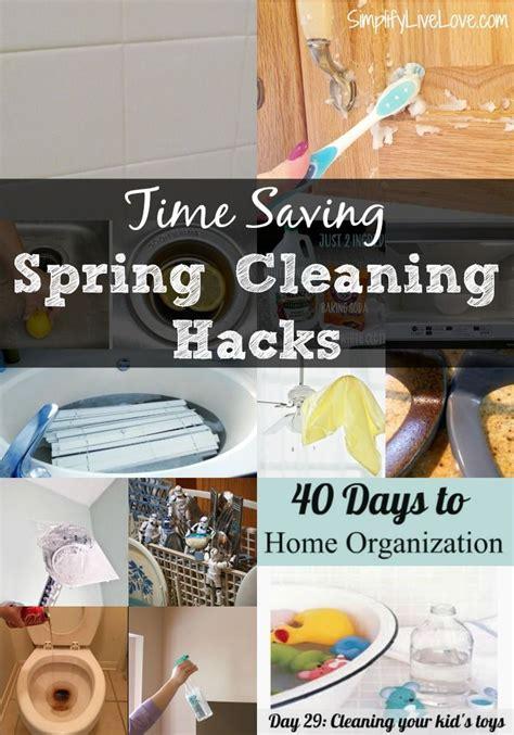 spring cleaning hacks 18 time saving spring cleaning hacks free printable