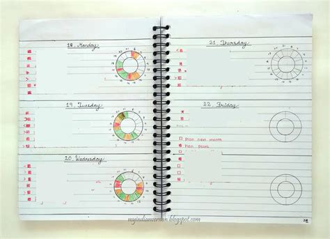 Layout Management Journal | my indian version bullet journal weekly spread ideas