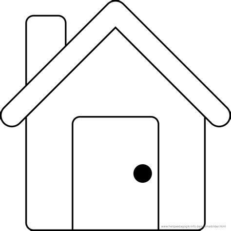 house outline free coloring pages of cartoon house outline